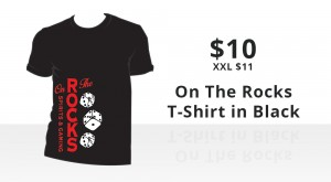On The Rocks Black T-Shirt