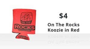 On The Rocks Red Koozie